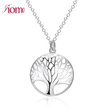 Iiomo Silver Plated Life Tree Pendant Necklace valentine gift girlfriend women Valentine's Day love charm accessories jewelry(China)