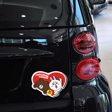 Car-styling Cony&brown Forever Funny Car Accessories Car Tail Sticker and Decal for Vw Skoda Polo Golf Bmw Audi Mercedes Smart