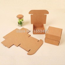 50pcs Small kraft paper box packaging rectangle gift paper soap box packaging kraft gift cardboard box(China)