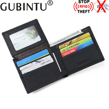 Buy GUBINTU Brand RFID Blocking Genuine Leather Wallet Stop RFID Men Wallets RFID Protection Purse Male Card Holder for $8.89 in AliExpress store