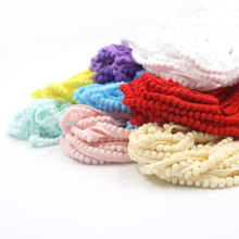 Hot Sale! 12 Colors 5Yards/Lot 5MM Pom Pom Trim Ball Fringe Ribbon DIY Sewing Accessory Lace For Home Garden Party Decoration(China)