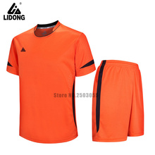 2017 men soccer jersey football clothing paintless summer sportswear customize any clubs sets men training football uniforms(China)
