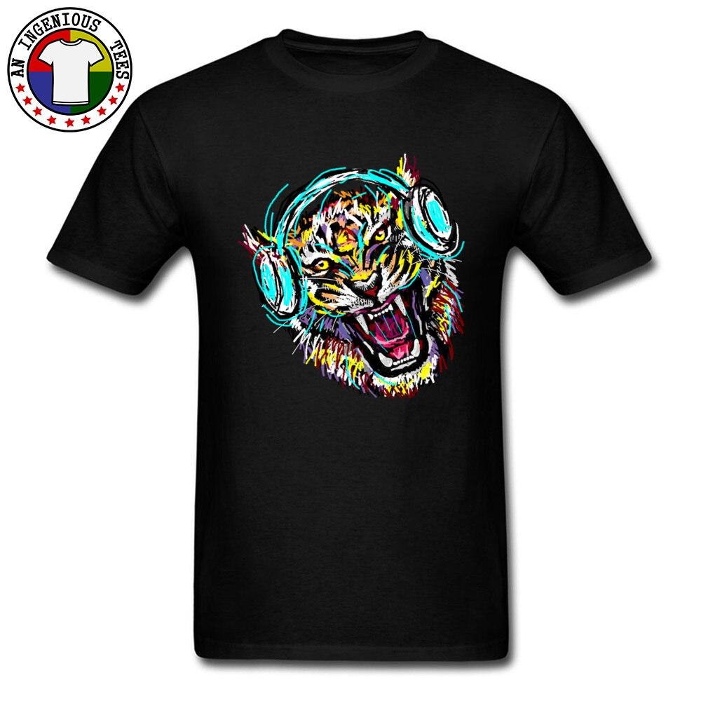 2018 Men T Shirt Cool Wild Music Printed On T-Shirt 100% Cotton Short Sleeve Print T Shirt Crew Neck Wholesale Cool Wild Music black
