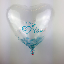 Free Shipping Heart-shaped Transparent Iloveyou Aluminum Balloons Children Toy Birthday Party Wedding Decorative Balloon