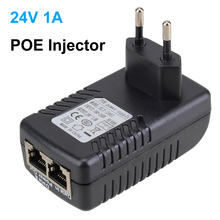 DC24V 1A 24W POE Injector for CCTV IP Camera POE injector POE Switch Ethernet Adapter EU/US/UK/AU Standard Optional