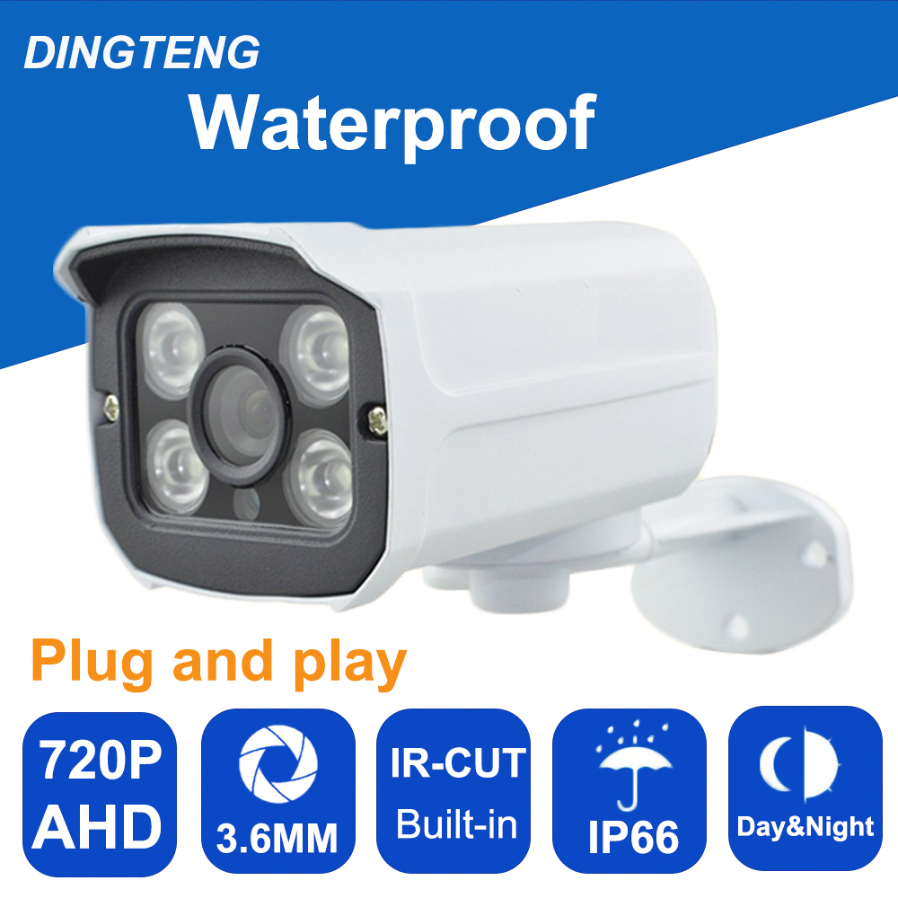 Analog IR outdoor Waterproof Bullet IR-CUT 1.0MP 720P AHD Camera Night Vision AHD  CCTV Camera for home surveillance system<br>