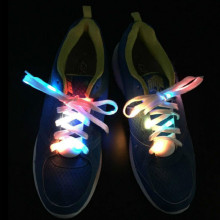 1 Pair Multicolors LED Luminous Shoelaces Light Up Boys Girls Night Flash Disco Party Glowing Laces Shoe Strings Worldwide sale