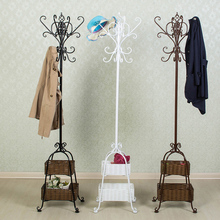 K/D European iron coatrack hanger floor bedroom clothes hanger coatrack hanger hanger bag mail landing