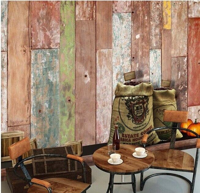 Custom vintage wallpaper, mottled wooden coffee bean murals for the living room bedroom TV background waterproof papel de parede<br><br>Aliexpress