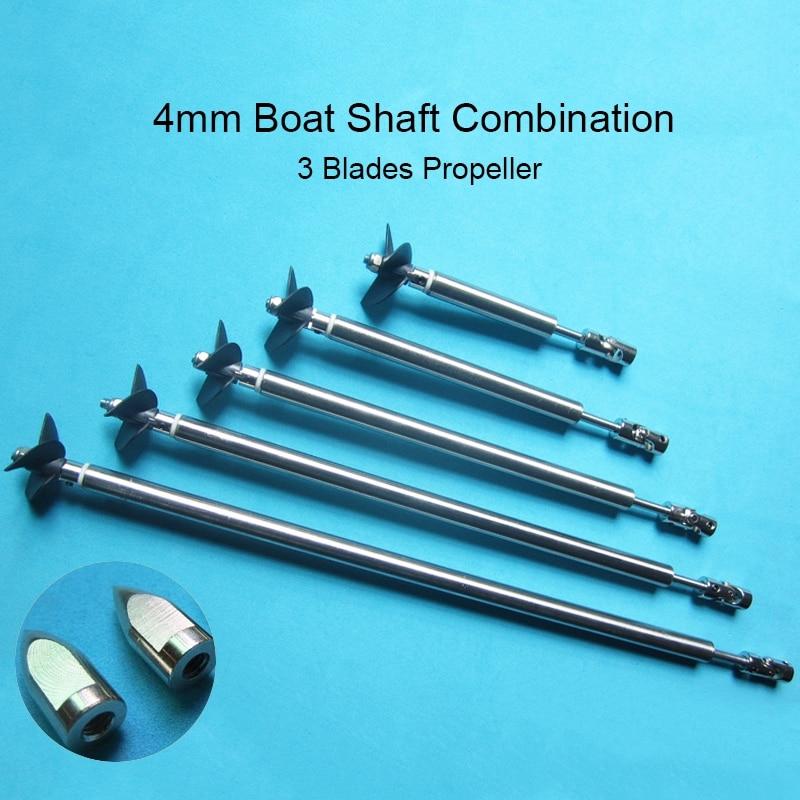 RC Model Boat 4mm Ship Shaft Drive Shaft+Universal Joint+3 Blades Propeller +Stainless Steel Shaft Sleeve+Gasket/set<br><br>Aliexpress