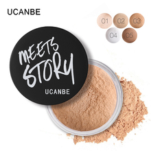 UCANBE Pro Face Finish Makeup Loose Powder Lightweight Translucent Long-wear Oil Free Stay Matte Mineral Foundation Nude Powder