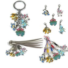 Mega Blastoise Charizard Bulbasaur Crawdaunt Sylveon Chain Bookmarks Rope pendant color metal Collectible gifts