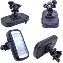 Arrival Polyester Waterproof Motorcycle Bike Handlebar Mount Case For Samsung Galaxy S3 S4 S5 S6 S7 edge Galaxy Grand J3 J5 A3