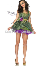 3 Pcs Woodland Green Gorgeous Fairy Princess Tinkerbell Dress Halloween Party Costume Medieval Costume Renaissance