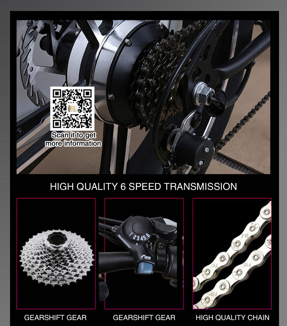 48v 350w 10ah Lithium Electric Folding Electric Bicycle Adult Wide Tire Snow Bike 20 Inch Folding E Bike Battery Bicycle For S