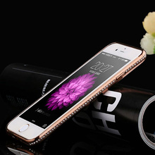 Luxury Rhinestone Frame Case For iPhone aifon 6 6s 6 plus 5 5S SE Ultra Thin Clear Soft TPU Crystal Diamond Cover