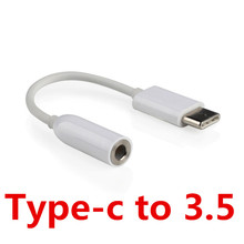 Type-C to 3.5mm Earphone cable Adapter usb 3.1 Type C USB-C male to 3.5 AUX audio female Jack for Letv 2 pro 2 max2 letv2 typec