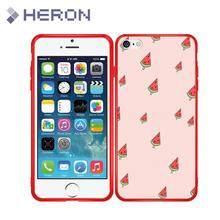 Ultra Thin Silicone Case For iPhone 5 5S SE 6 6s Plus i7 7+ i8 i8+ X iX Soft Red Matt Flower Phone Cover Bag Anti Finger Print(China)