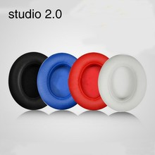 2pcs/pairs Leather Headphone Foam ear pads buds Sponge cushion Earbud Replacement Covers For Monster Beats Studio 2.0 headset