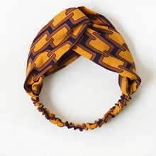 Fashion Yellow Geometric Turban Headbands for Women Summer Chiffon Headband Head Wrap Wide Ear Warmer Hairband Hair Accessories
