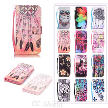 Flip Case For Apple iPhone 6 6s fashion Luxury Painting PU Leather Case Card Slot Stand Wallet Phone Cover For iPhone6 iPhone6s