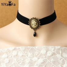 YiYaoFa Choker Necklace For Women Accessories Vintage Necklace & Pendant False Collar Gothic Jewelry Statement Necklace DD-02
