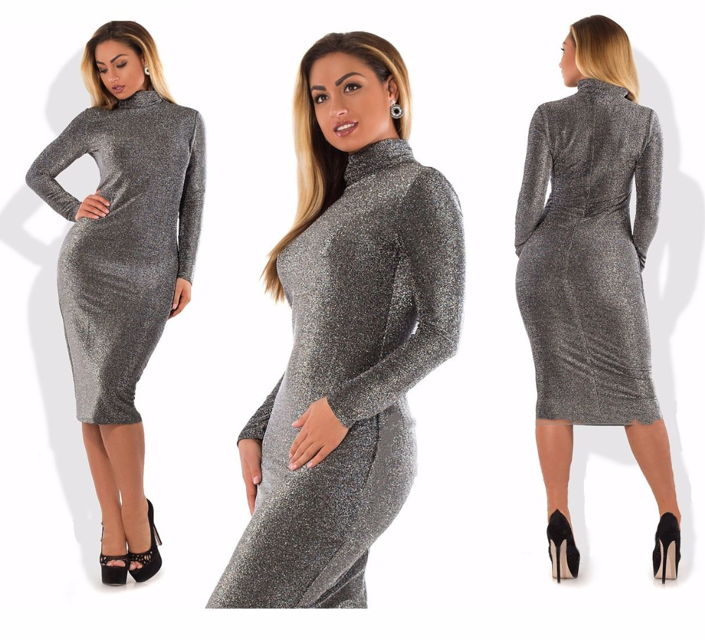 Bodycon Bandage Dress Metallic Knitted Party Dress Christmas Big Size  Winter 5XL 6XL Women Plus Size Women Clothing