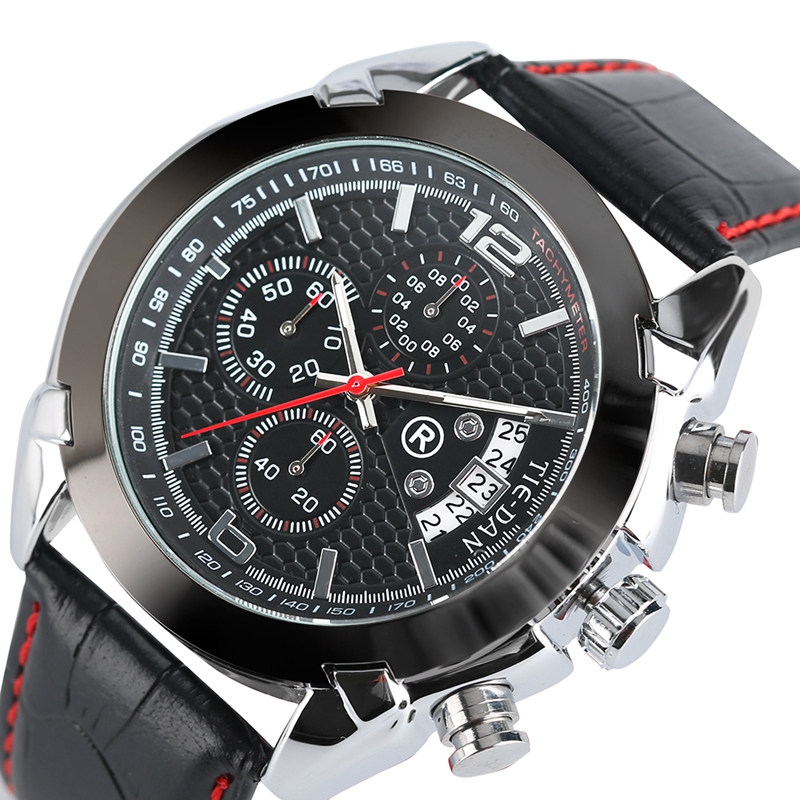 Mens Watches Top Brand TIEDAN Military Pilot Quartz-watch Formal Business Chronograph Wrist Watch Aviator Date Relogio Masculino<br>