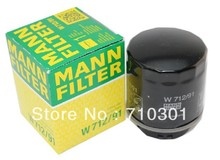 Hot sales, free shipping fee MANN oil filter W712/91 for A1|A3 Beetle Kaefer