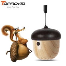 TOPROAD Bluetooth Speaker Portable Mini Speakers Cute Wooden Nut Pocket Outdoor Loudspeaker with MIC For Phone Backpack Travel(China)