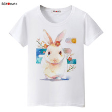 BGtomato new rabbit lovely bunny t shirts woman's summer cool shirts Brand fashion breathable shirts cheap sale
