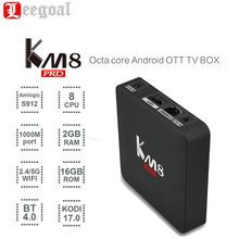 KM8 PRO Smart TV Box Android 6.0 Amlogic S912 Octa Core 2G/16G 2.4G/5G WiFi KODI 17.0 IPTV Europe Set Top Box Mini Media Player