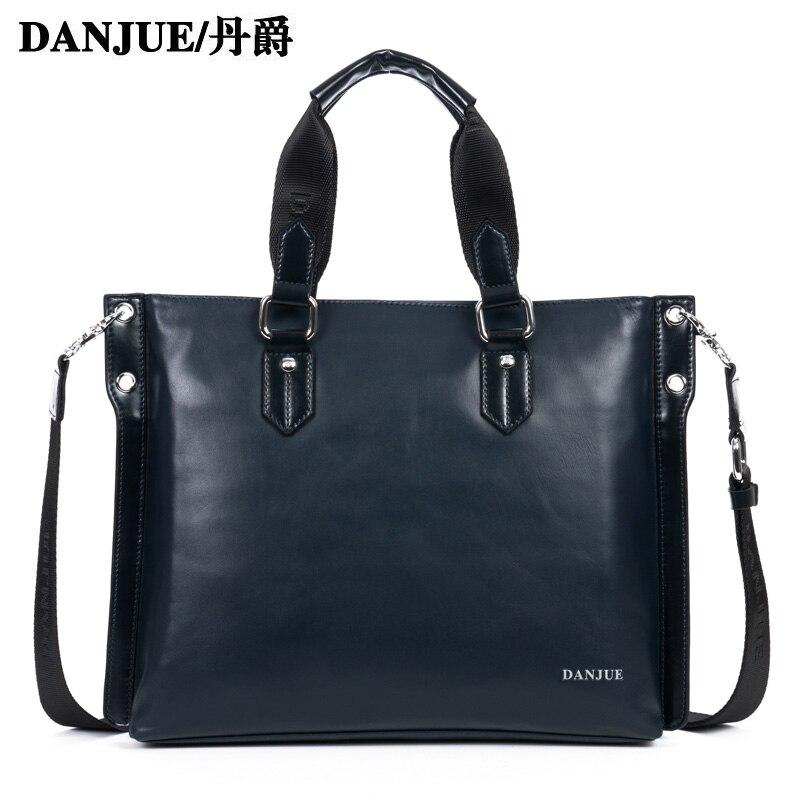 Real Genuine Cow Leather Men Handbag Korean style Fashion Business Briefcase 13.3 inch Laptop bag crossbody bag<br><br>Aliexpress