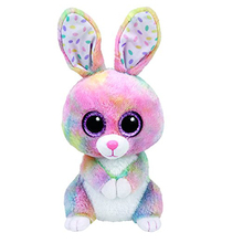 "Original Ty Beanie Boos 6"" 15cm Bubby Multicolor Bunny Plush Stuffed Collectible Big Eyes Rabbit Doll Toy"