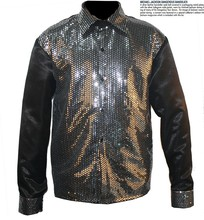 Custom Made New MJ Professional Cosplay Michael Jackson Billie Jean 25th Motown Sequin Shirt Jacket(China)