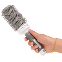 Ceramic Ionic Radial Round Comb Hair Brush Salon Styling Tools Hair Brushes Barrel Hairbrush High Temperature Resistant Comb(China)