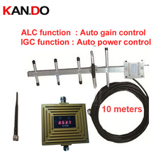 work in bad signal place IGC+ALC Auto Gain Control 65dbi GSM booster GSM repeater,mobile phone repeater w/ antenna meters cable