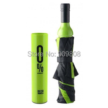 free shipping 100pcs Personalized red wine bottle umbrella lovers umbrella folding beer umbrella white 0 sun protection umbrella(China)