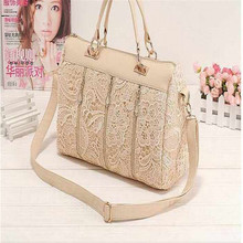 Fashion Women PU Leather Messenger Bag Tote Shoulder Bag Lace Handbag Creative Female bags
