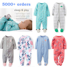 Brand 2018 fashion baby pajamas & sleepwear baby clothing baby boys clothes for girls rompers 100% cotton baby rompers newborn(China)