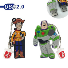 2.0 Pen drive Cartoon Toy Story USB Flash Drives 4GB 8GB 16GB 32GB 64GB usb flash drive animal memory card free shipping