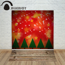 Allenjoy christmas photography backdrop Wooden stitching xmas tree stars children's photocall background photographic Customize(China)