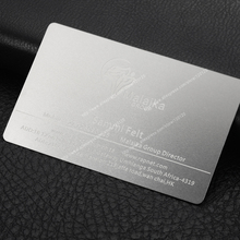 Personalized quality electrophoresis black laser engraving business metal card(China)