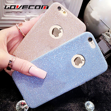 LOVECOM Ultra Thin Soft TPU Bling Glitter Powder Phone Back Cover For Iphone 5 5S SE 6 6S 7 Plus 7 Plus Phone Case Best Price