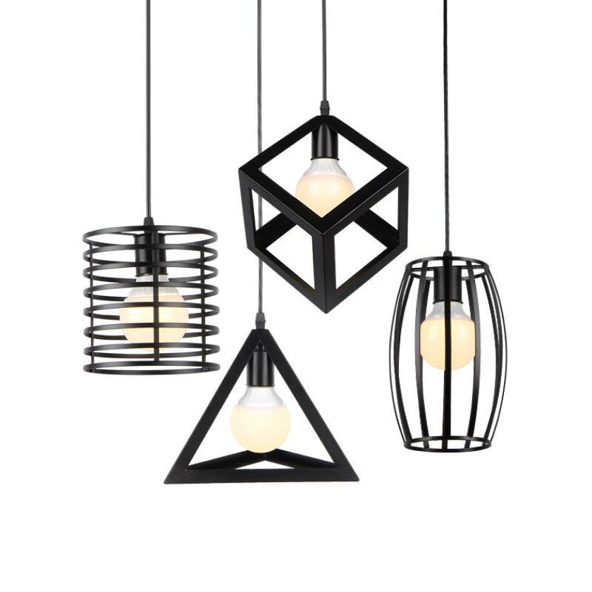 Industrial Vintage iron Cage Pendant Light Sconce Hanging Droplight Lamp led bulb  E27  warehouse style retro kinds lamp <br>