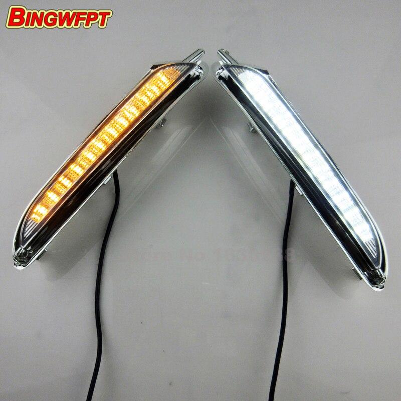 2pcs/pair Daytime running drl style Relay Waterproof 12V turn light led for For Buick Encore/Opel Mokka 2012-15<br>