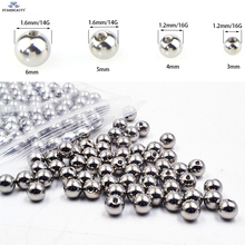 10Pcs/Lot Silver Titanium Plating Stainless Steel Ball Screw On Lip Eyebrow Belly Tongue Ear Piercing Body Jewelry 16G/14G(China)