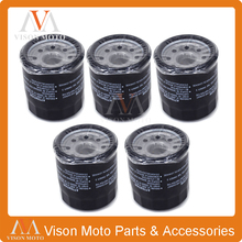 5PCS Motorcycle Oil Filter Cleaner For Arctic Cat ATV 400 454 500 2*4 4*4 AUTOMATIC ACT VP LE TBX TRV