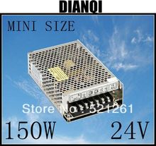 power supply 24V 150w 24V 6.5A power suply 150w mini size led power supply unit ac dc converter ms-150-24(China)