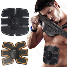 EMS Abdominal Muscle Trainer Stimulator Body Electric Pulse Treatment Slimming Massage Training Pads Fat Burner Gymnic Belt(China)